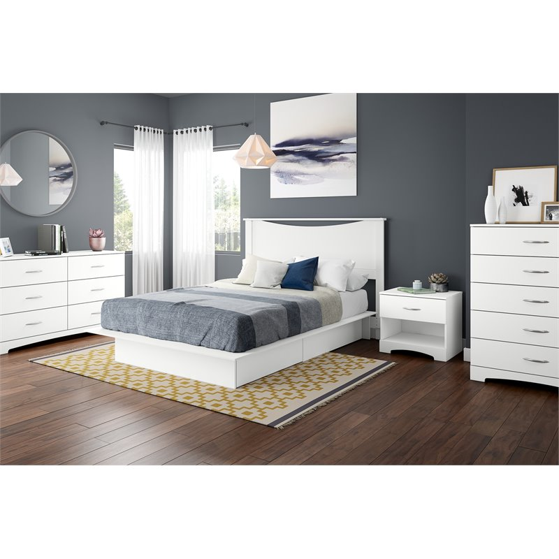 South Shore Maddox 5 Drawer Chest in Pure White Finish