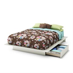 South Shore Maddox Full Queen Storage Bed in Pure White