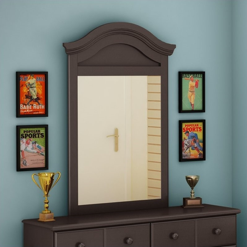 South Shore Summer Breeze Vertical Mirror in Chocolate Finish