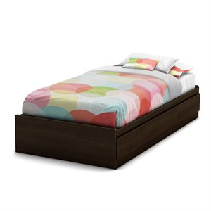 South Shore Newton Shaker Style Twin Mates Bed in Moka Finish
