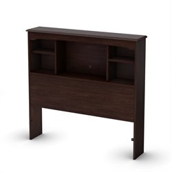 South Shore Nathan Twin Bookcase Headboard in Espresso