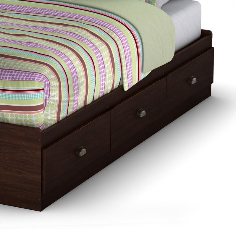 South Shore Nathan Twin Mates Bed in Havana Finish