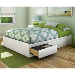 South Shore Full Storage Bed in Pure White