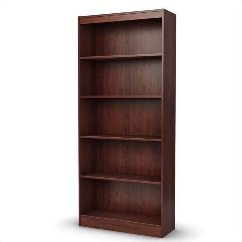 South Shore 5 Shelf Bookcase in Royal Cherry