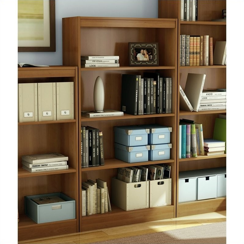 4 Shelf Bookcase in Morgan Cherry