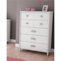 South Shore Sabrina 5 Drawer Chest in Pure White