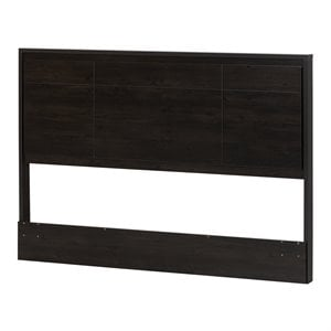 South Shore Gravity Full/Queen Panel Headboard in Ebony