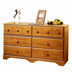 South Shore Amesbury 6 Drawer Dresser in Country Pine