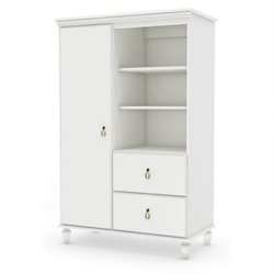South Shore Moonlight Door Chest in Pure White