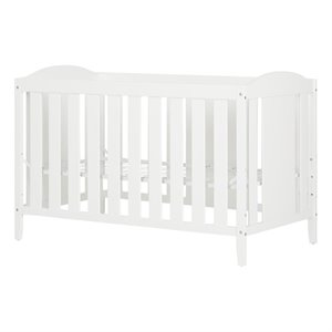 South Shore Angel Crib and Toddlers Bed in Pure White