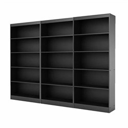 South Shore Axess 5 Shelf Wall Bookcase in Pure Black