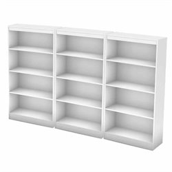 South Shore Office 4 Shelf Wall Bookcase in Pure White