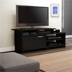 South Shore Maddox Collection TV Stand in Pure Black