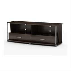 South Shore City Life Contemporary TV Stand in Chocolate
