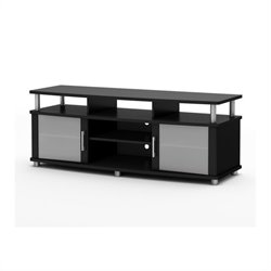 South Shore Contemporary TV Stand in Pure Black