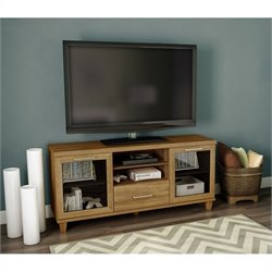 South Shore Adrian Transitional TV Stand in Harvest Maple