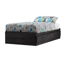 South Shore Fynn Twin Mates Bed in Gray Oak