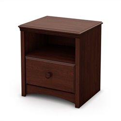 South Shore Sweet Morning Nightstand in Royal Cherry