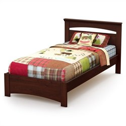 South Shore Sweet Morning Twin Bed in Royal Cherry