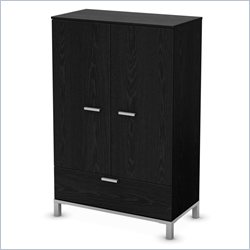 South Shore Flexible Door Chest in Black Oak