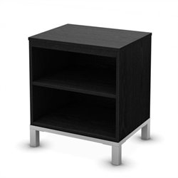 South Shore Flexible Nightstand in Black Oak