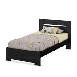 South Shore Flexible Twin Bed in Black Oak