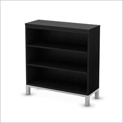 South Shore Flexible 3 Shelf Bookcase in Black Oak