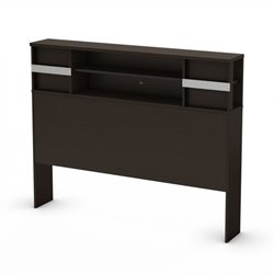 South Shore Back Bay Full Bookcase Headboard in Espresso