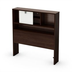 South Shore Cookie Twin Bookcase Headboard in Brown