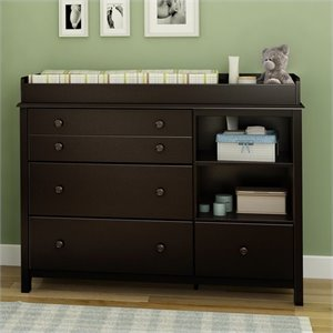South Shore Little Smiley Changing Table in Espresso