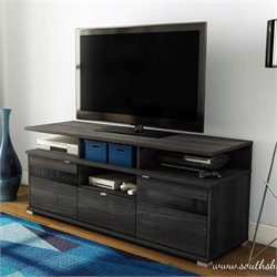 South Shore City Life II Contemporary Style TV Stand in Grey Oak