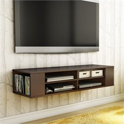 City Life Wall Mounted Media Console in Chocolate