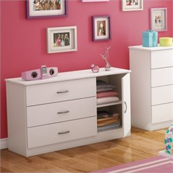 South Shore Libra Dresser in Pure White
