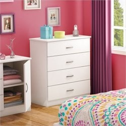 South Shore Libra 4 Drawer Chest in Pure White