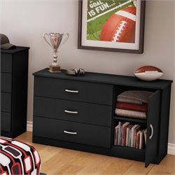 South Shore Libra Dresser in Pure Black