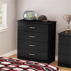South Shore Libra 4 Drawer Chest in Pure Black