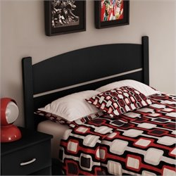 South Shore Libra Full Panel Headboard in Black