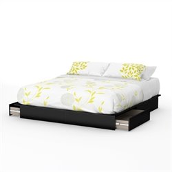 South Shore Step One King Platform Bed with Drawers II