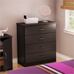South Shore Libra 4 Drawer Chest in Chocolate