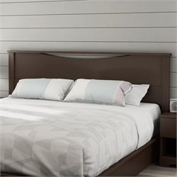 South Shore Step One King Panel Headboard in Espresso