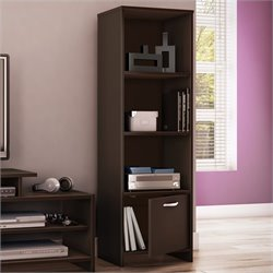 South Shore Step One Shelf Bookcase in Chocolate