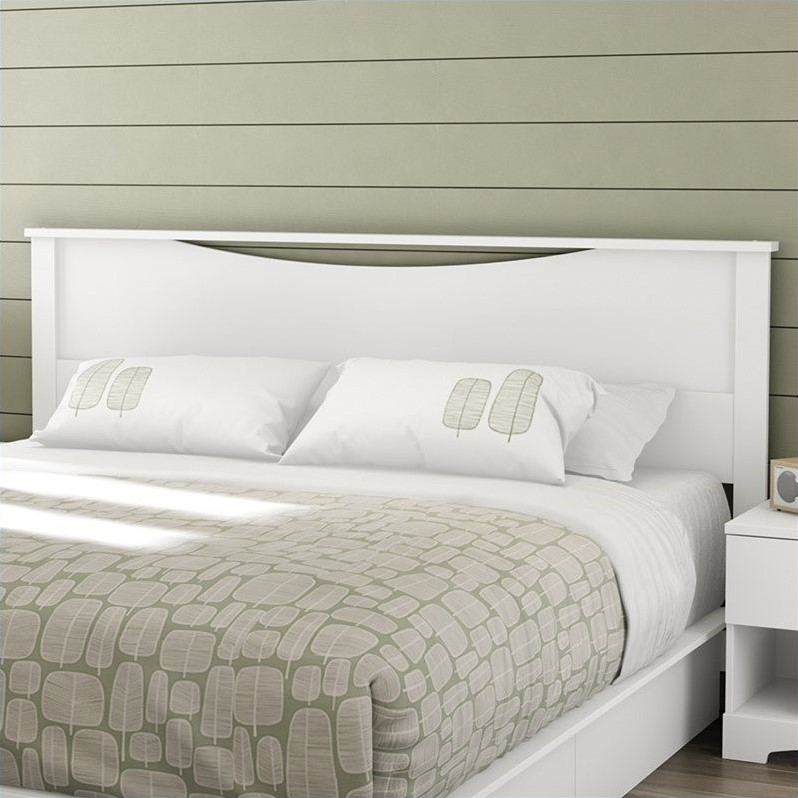 South Shore Step One King Panal Headboard in White