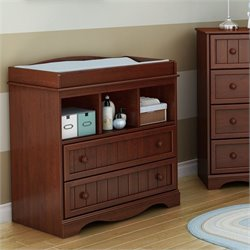 South Shore Savannah Changing Table in Royal Cherry
