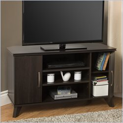 South Shore Caraco Corner TV Stand in Mocha