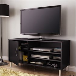 South Shore Renta TV Stand with Door in Pure Black