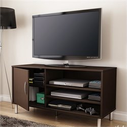 South Shore Renta TV Stand with Door in Chocolate