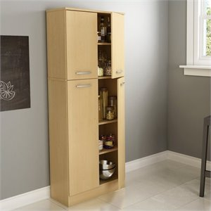 South Shore Fiesta Storage Pantry in Natural Maple