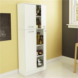 South Shore Fiesta Storage Pantry in Pure White