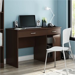 South Shore Axess Small Computer Desk in Chocolate