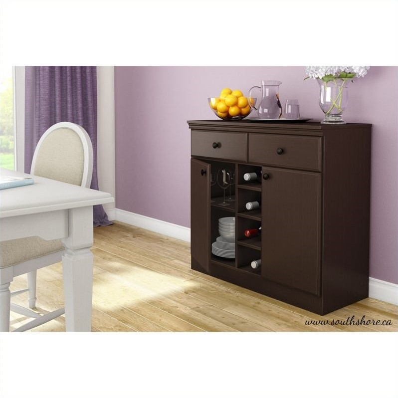 South Shore Morgan Storage Console in Chocolate